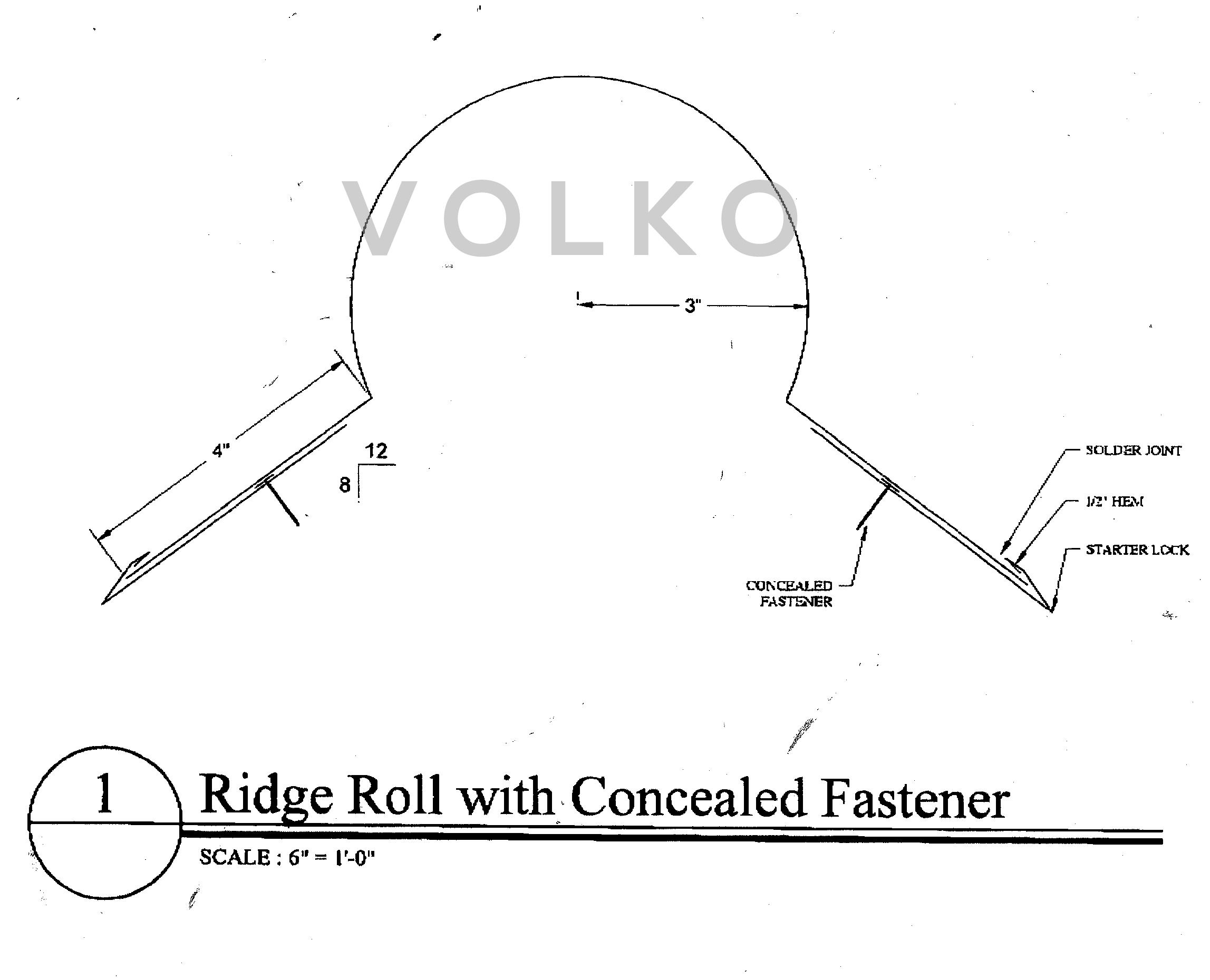copper ridge roll drawing